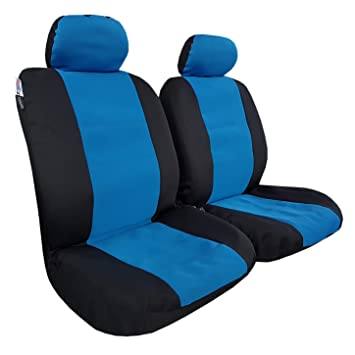 2pcs front waterproof canvas black car seat covers for Frontier colorado tacoma