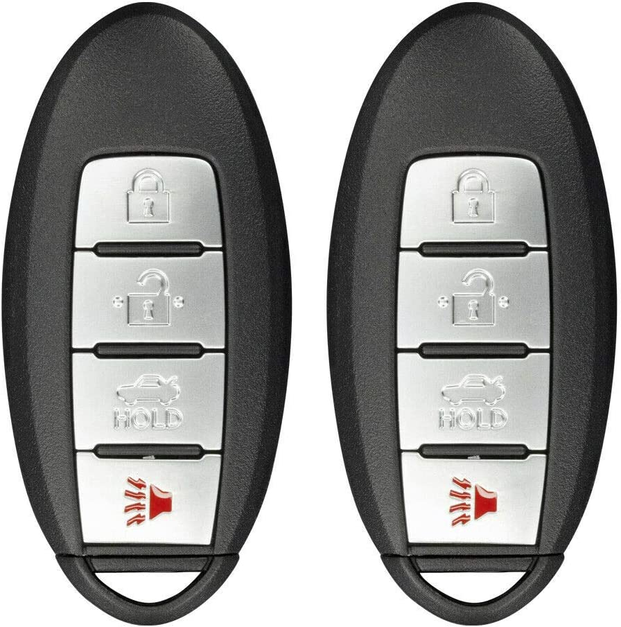 Remote Key Fob Compatible with Nissan Altima 2016 2017 2018 2019 4-Button KR5S180144014 2 Pack