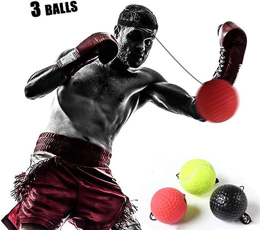 HATHOR-23 Boxeo Reflejo Pelota Boxing Ball, 3 Formación Velocidad ...