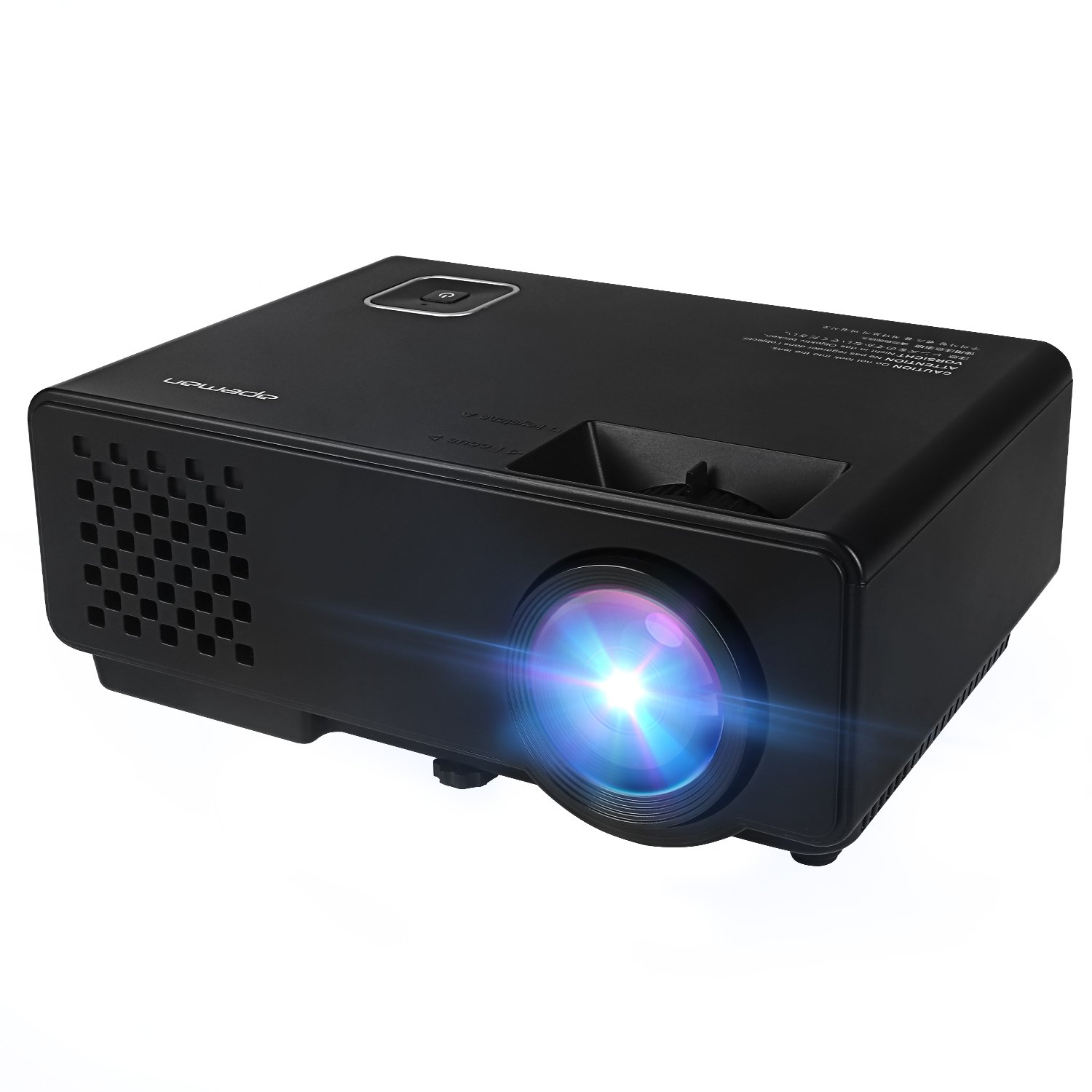 APEMAN Video Projector LED Mini Portable Projector 1000 Lumens Home Theater Cinema Experience Perfect for Family Gathering Video Games Movie Night Support 1080P with HDMI/USB/VGA/AV/ATV Input apeman LC150