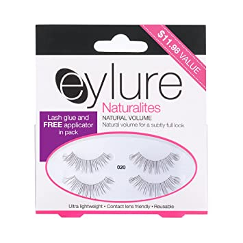 d4201254905 Amazon.com : Eylure Naturals False Eyelashes Multipack, Style No. 020,  Reusable, Adhesive Included, 2 Count : Beauty