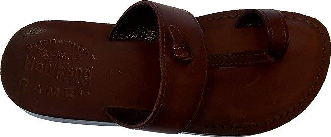 Vintage Sandal History: Retro 1920s to 1970s Sandals Holy Land Market Unisex Genuine Leather Biblical Flip Flops (Jesus - Yashua) Nazareth Style $34.49 AT vintagedancer.com