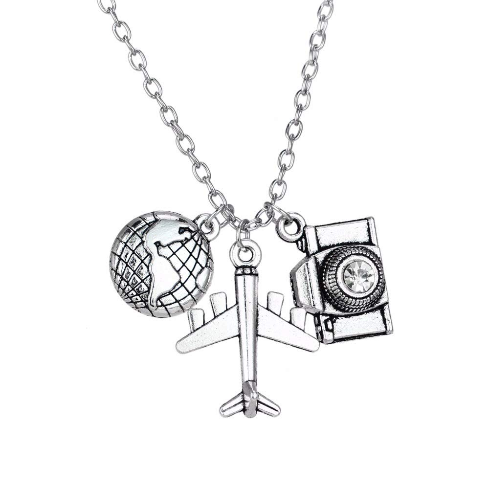 Earth Plane Camera Travel Necklace
