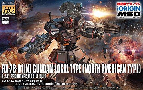 1 144 Gundam - Bandai Hobby HG 1/144 Gundam Local Type (North American Front) The Origin