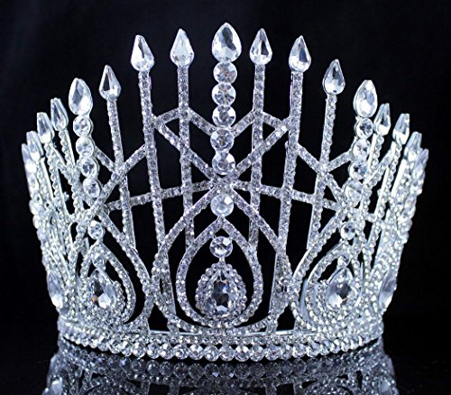 Crowns Queen For Sale (Janefashions LG BEAUTY QUEEN CRYSTAL RHINESTONE TIARA CROWN HAIR COMBS PAGEANT T2179)