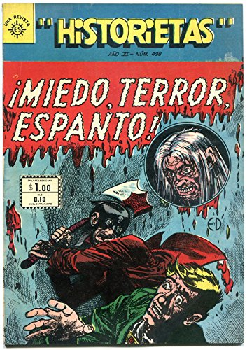 HISTORIETAS 498, VF, Johnny Craig, Williamson, EC, 1950, Pre-Code Horror,Spanish