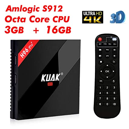 9e91a6d6380 Android Box 3GB, KUAK H96 Pro Plus Android 7.1 Amlogic S912 Octa Core TV Box