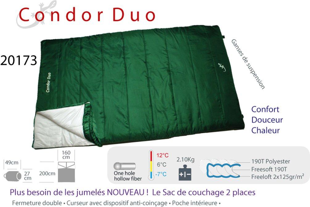 Condor Duo - Saco de dormir (para 2 personas): Amazon.es: Deportes y aire libre