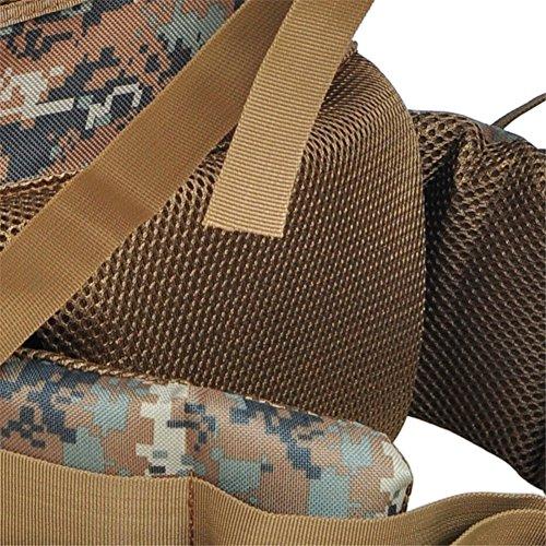 aofit 65L Militär Armee Rucksack Tactical Rucksack Trekking Rucksack Outdoor Sport Rucksack Multifunktions Rucksack Tasche mit U-förmigen Aluminium Rahmen Reisen Camping Wandern Rucksack Dschungel-Camouflage 1phPagzQf