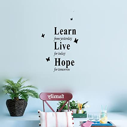 Amazoncom Earck Wall Sticker Quotes Live For Today Hope For