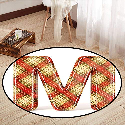 Circularity mat for Nursery Round Indoor Floor mat Entrance Circle Floor mat for Office Chair Wood Floor Circle Floor mat Office Round mat for Living Room Pattern 4'3