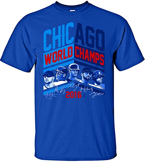 f517e19a0 Image Unavailable. Image not available for. Color  Coed Sportswear MLB Chicago  Cubs 2016 World Series Champions Team Angle Design T-Shirt
