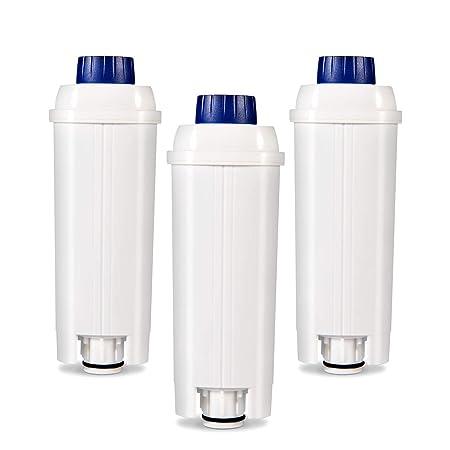 Filtro de Agua para Cafetera DeLonghi Filtro DLSC002 con Ablandador de Carbón Activado, Homegoo Filtro Compatible con DeLonghi ECAM, Esam, Etam, BCO, ...