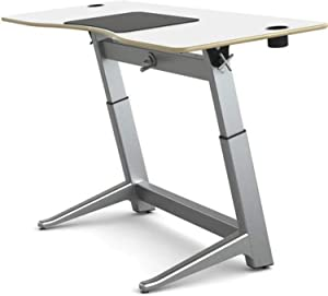 Active Collection Locus 5 Adjustable Standing Desk, Laminate Top, Glacier White