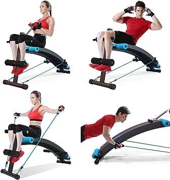 XQY Silla para ejercicios, mesa de trabajo con pesas ajustables, luz de mancuerna, equipo de ejercicios multifuncional: Amazon.es: Bricolaje y herramientas