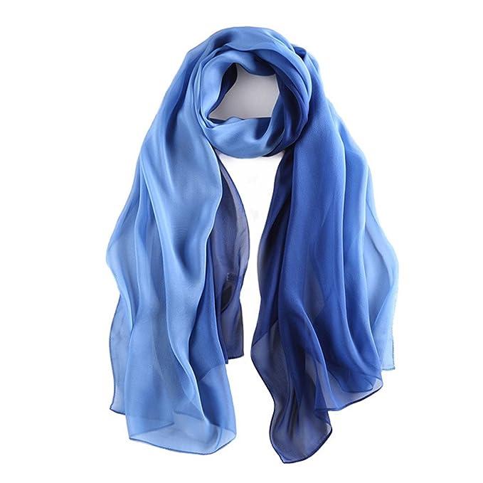 025659b6471 pañuelo de seda Mujer 100% seda Mantón Bufanda Moda Chals Señoras Elegante  Estolas Fular 70