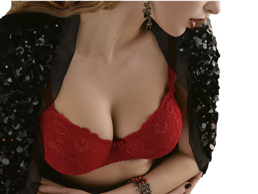 Prima Donna Couture Full Cup Bra Style 0162580-0162581, Red Kiss, 42F by Prima Donna