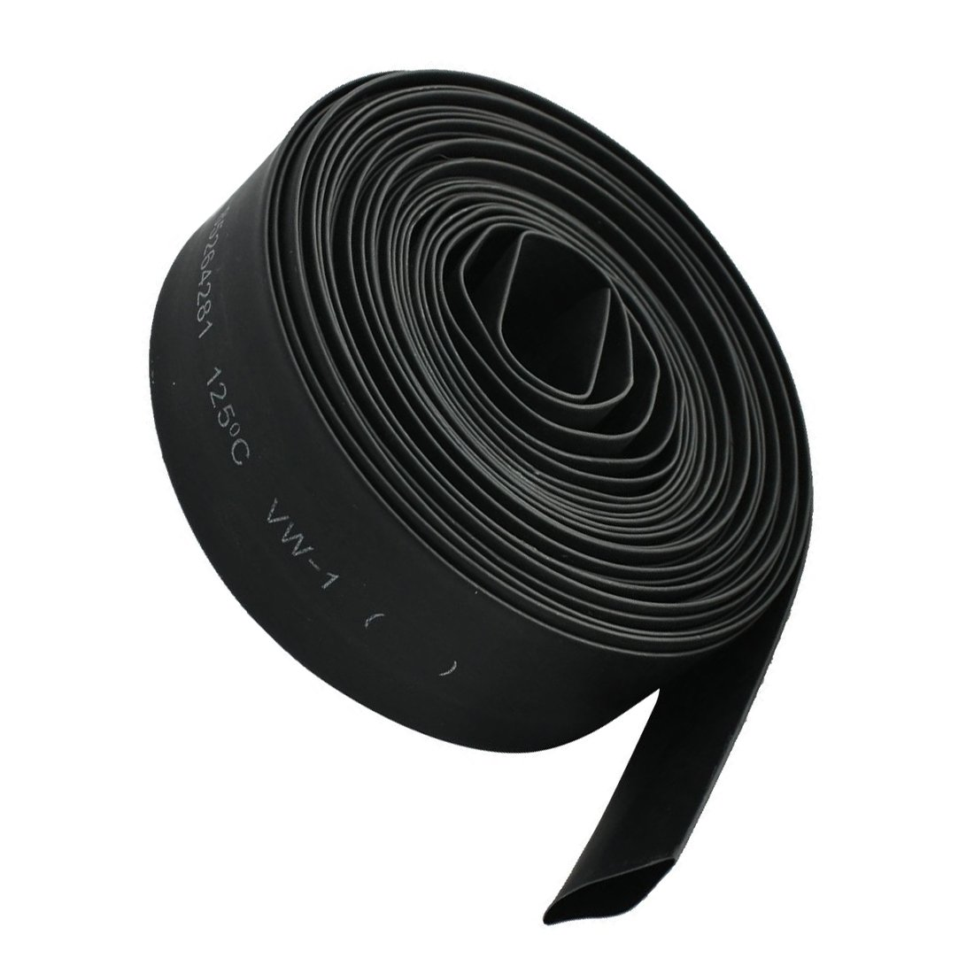 ACAMPTAR 15mm 2:1 Negro tuberia del encogimiento de aislamiento termico de poliolefina de 5M