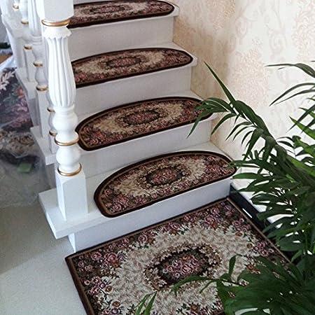 DADAO-Alfombra de escalera, escalera almohadilla antideslizante, alfombra, moqueta, escalera de Manta, casa?autoadhesivo,24x75cm,I: Amazon.es: Hogar