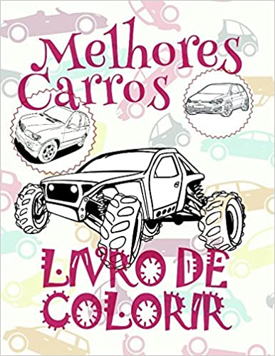 Livro De Colorir Melhores Carros Toddler Boy Coloring Book