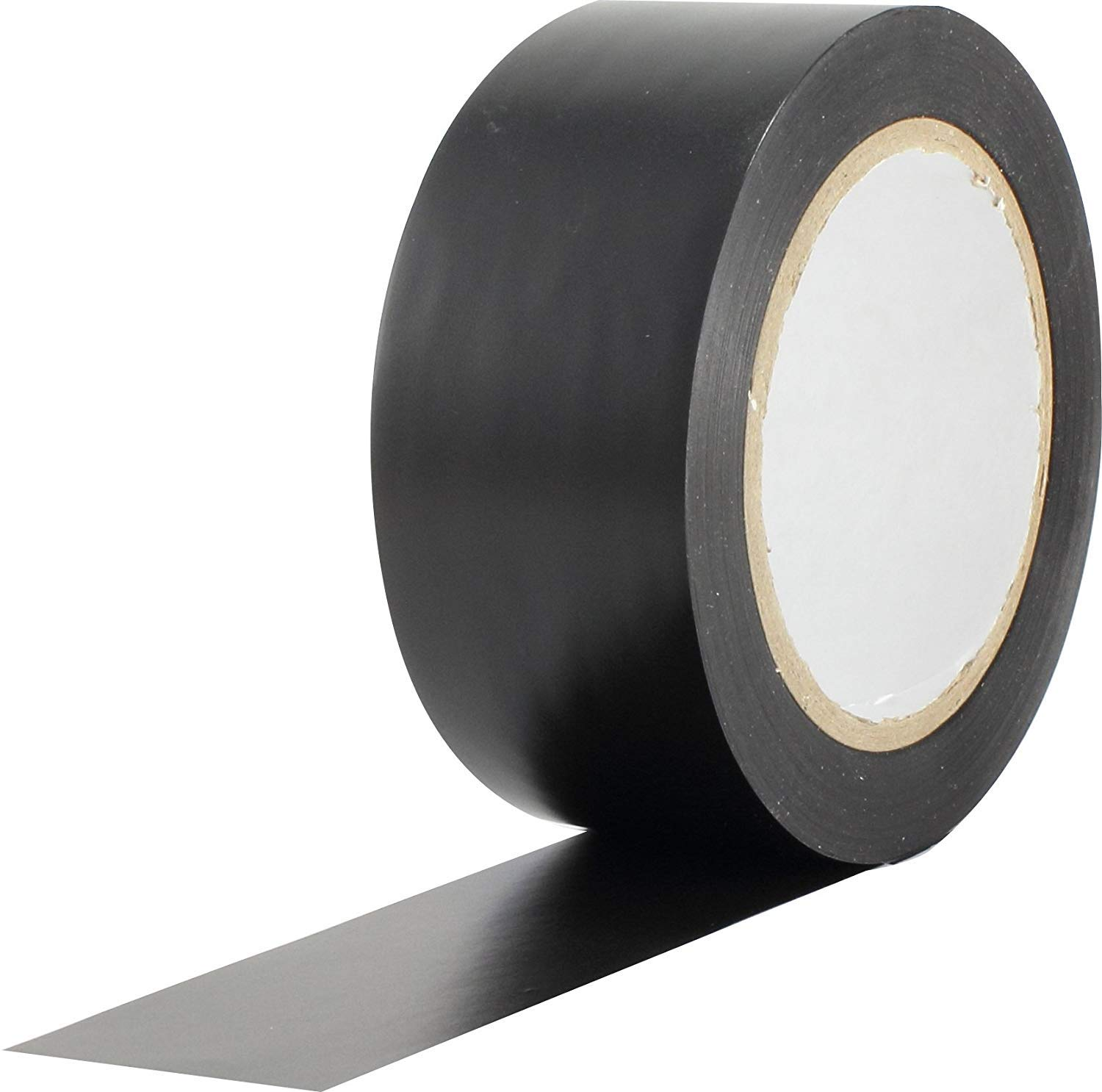 ProTapes Pro 50 Premium Vinyl Safety Marking and Dance Floor Splicing Tape, 6 mils Thick, 36 yds Length x 2'' Width, Black (Pack of 1) (2 Pack)