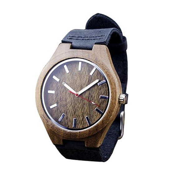 Regalo personalizado/diseño creativo/tabla de bambú/color primario/reloj de madera