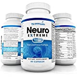 Brain Supplement by Neuro Extreme | Memory Supplements, Focus Supplement, Energy Supplement +Brain and Focus Formula with DMAE, Inositol, GABA, Magnesium, Berry Fruit Extract, Grape Seed Extract