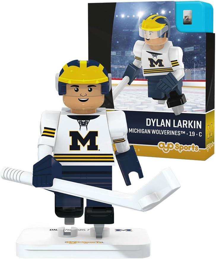 OYO NCAA Michigan Wolverines Dylan Larkin Hockey Minifigure Black Small