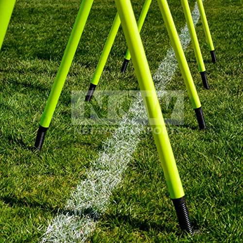 6FT Spring Loaded Slalom Poles [8qty/16qty] *BEST QUALITY AVAILABLE* 25m or 34mm – Soccer/Football/Sports Agility Training – 24HR Ship [Net World Sports]