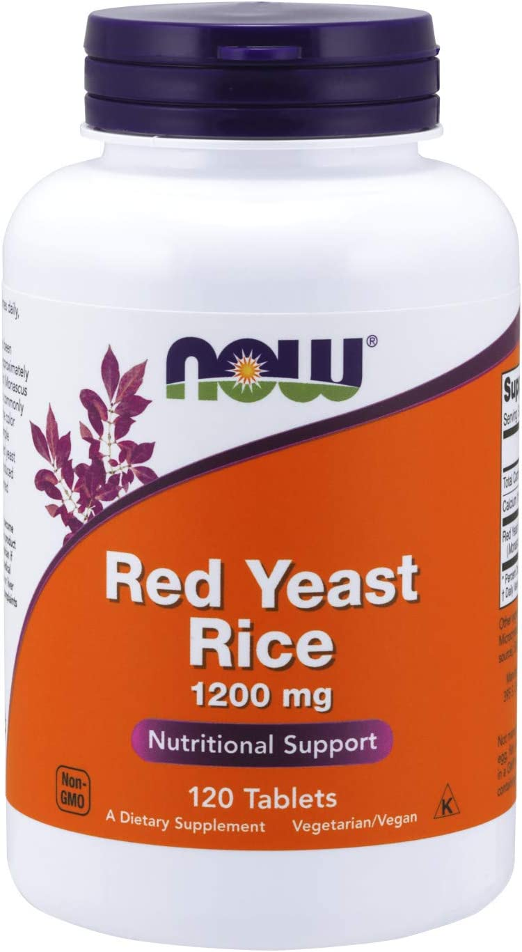 NOW Supplements, Red Yeast Rice (Monascus purpureus) 1,200 mg, Nutritional Support, 120 Tablets
