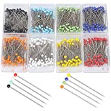 SUMAJU 800 pcs Straight Pins, Multicolor Glass Ball Head Pins, Sewing Fix Pins For Dressmaking Jewelry Components Flower Decoration