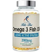 Omega 3 Olio di Pesce 2000mg 365 Gel Morbido Capsule da Rite Flex Grassi Acidi Omega 3