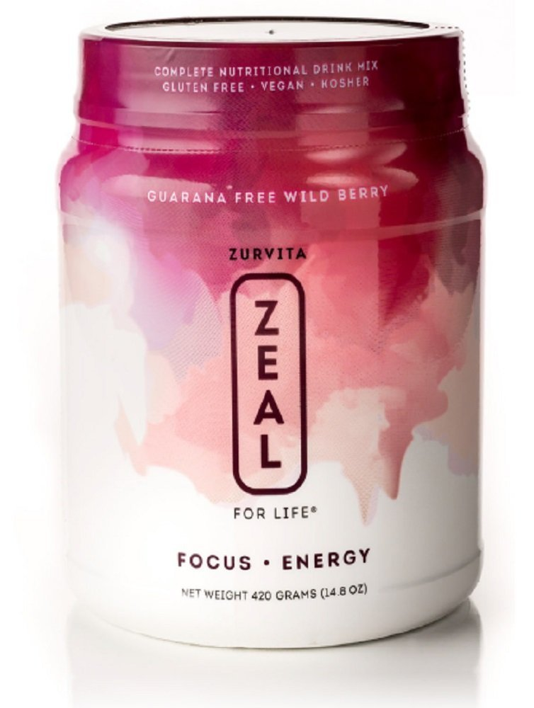 Zeal for Life - Wellness Formula - Wild Berry GUARANA FREE - 30 Servings - 1 Month Supply