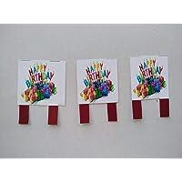 Figuras decorativas de papel para decorar el pastel. Tamaño 6 cm x 4 cm. 3 piezas #21