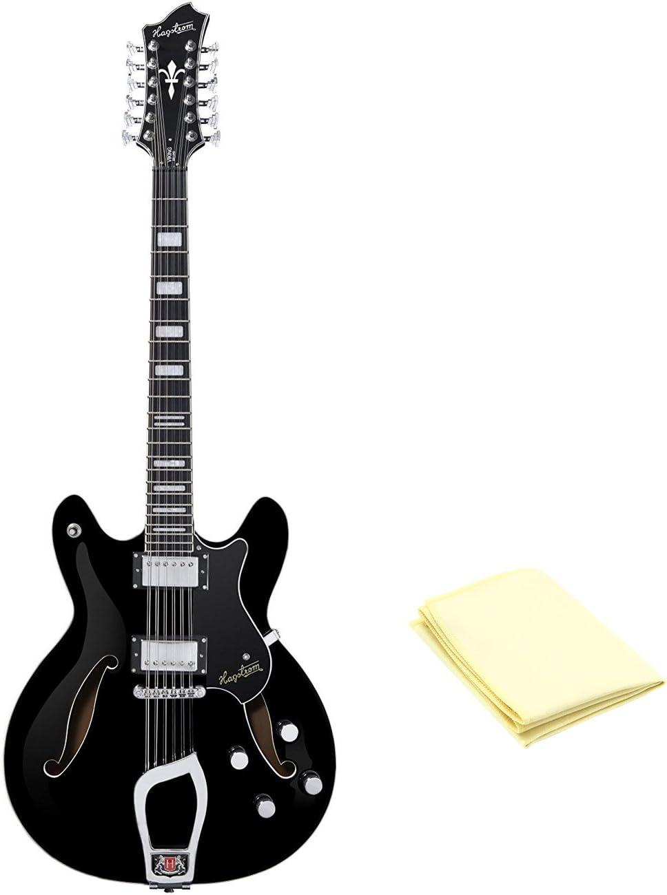 Hagstrom vidlx12-blk Viking Deluxe Series Guitarra eléctrica con ...