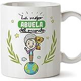 MUGFFINS Abuela Tazas Originales de café y Desayuno para Regalar a Abuelas - La Mejor Abuela del Mundo - Cerámica 350 ml