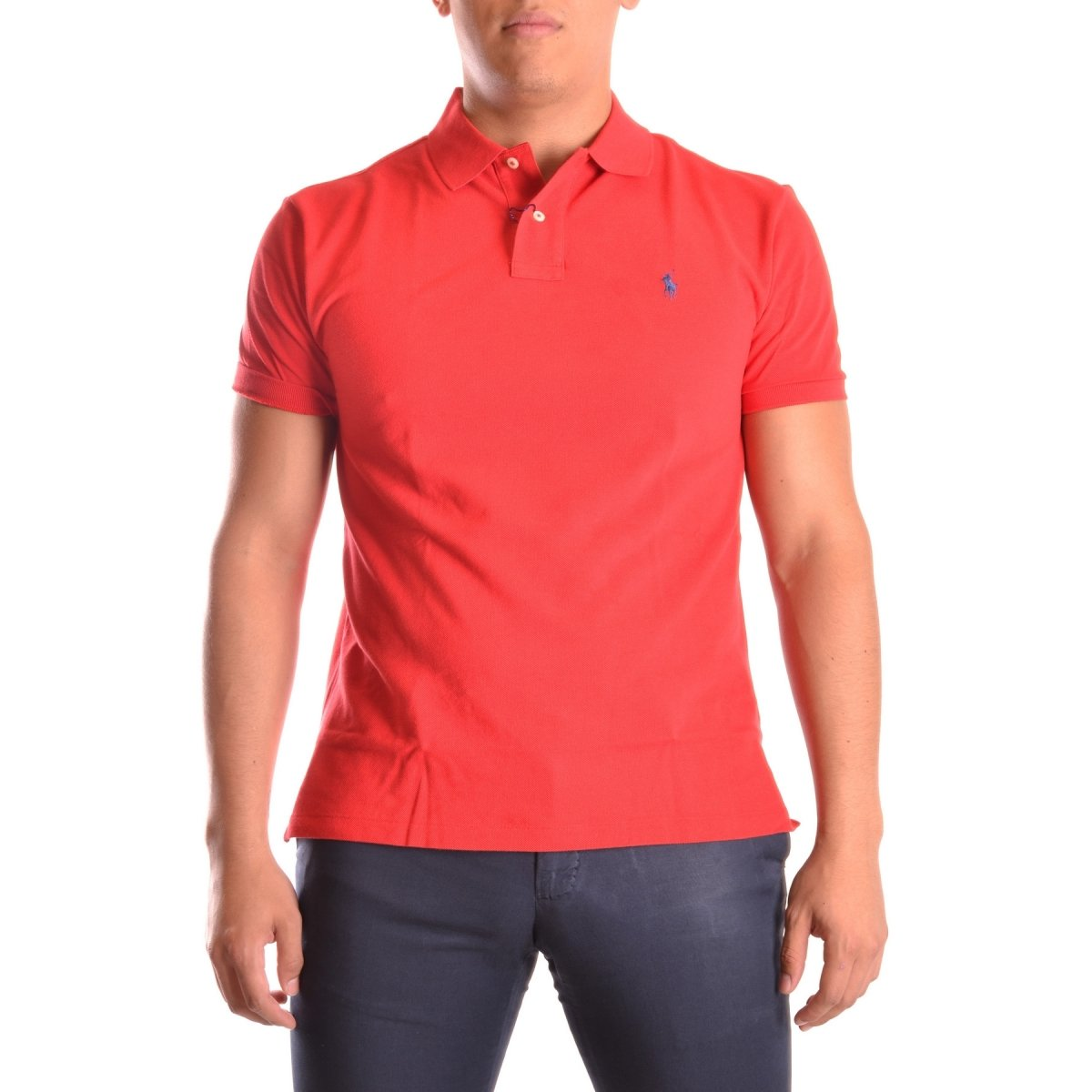 Rouge L Polo Ralph Lauren SS KC Slim Fit Polo Ppc Homme