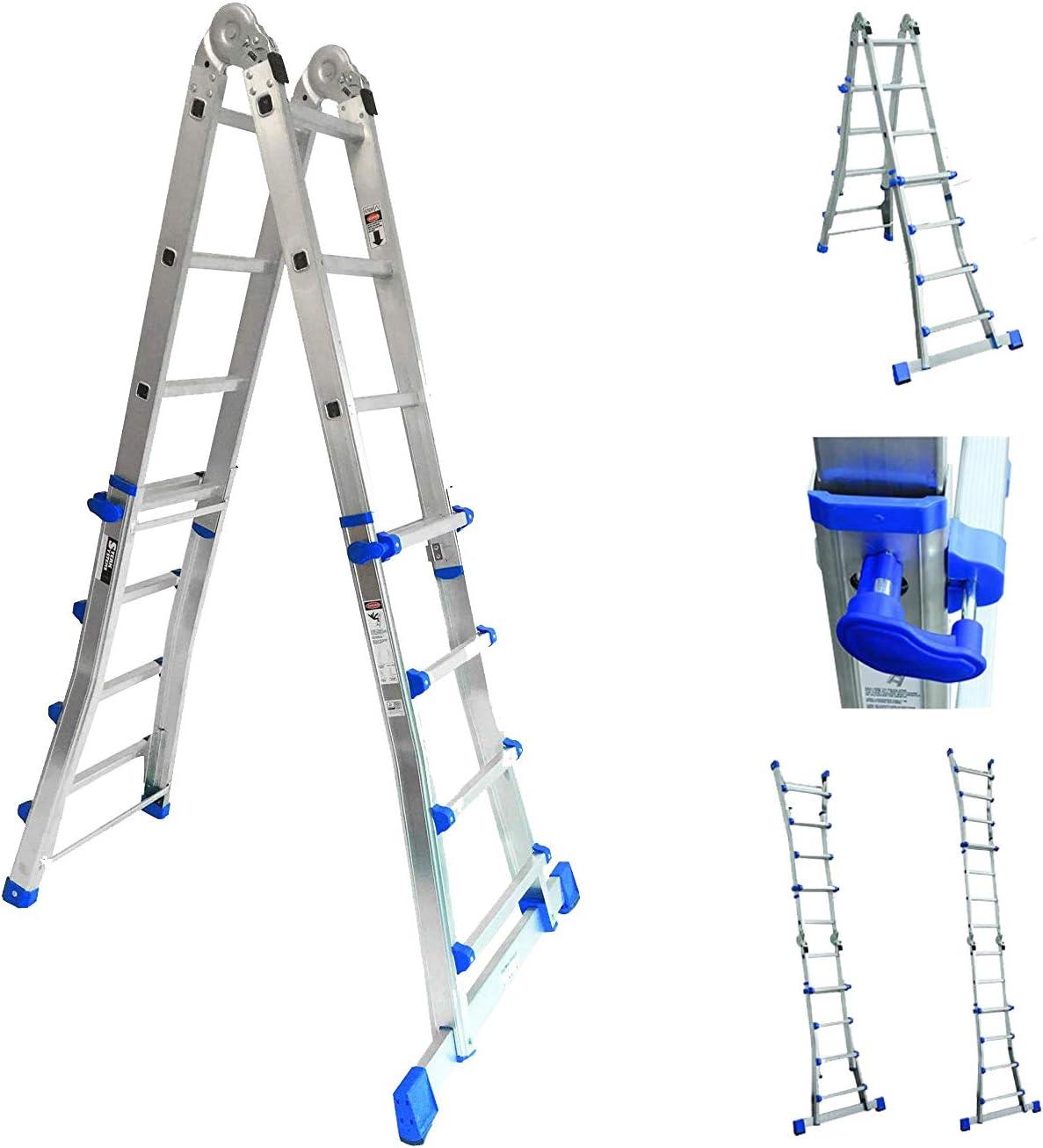Sistema telescópico multifuncional de escalera de mano con 4 x 4 peldaños.: Amazon.es: Electrónica