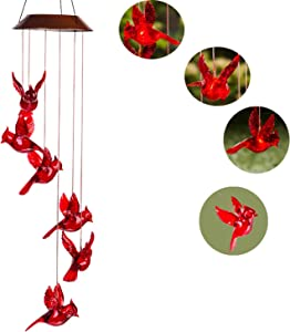 Topadorn Solar Powered Mobile Waterproof Automatic Light Wind Chimes Color Changing Solar Wind Chimes for Outdoor Garden Patio Yard Patio Yard Home Décor