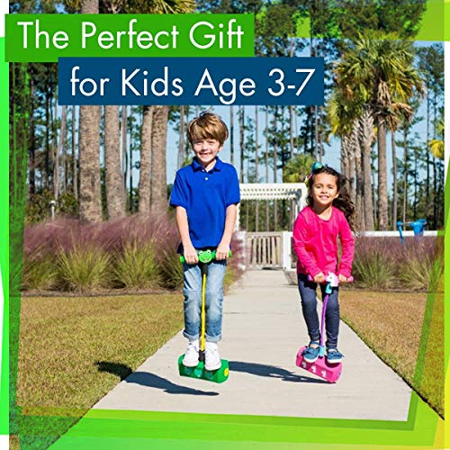 Flybar My First Foam Pogo Jumper for Kids Fun and Safe Pogo Stick, Durable Foam and Bungee Jumper for Ages 3 and up Toddler Toys, Supports up to 250lbs (Blue)