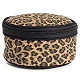 Round Travel Jewelry Case (Leopard)