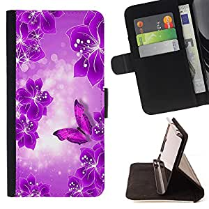 - Butterfly Fly Beautiful Colorful - - Wallet Pu Leather Credit Card Holder Pouch Case Cover FOR Apple Iphone 6 PLUS 5.5 Retro Candy