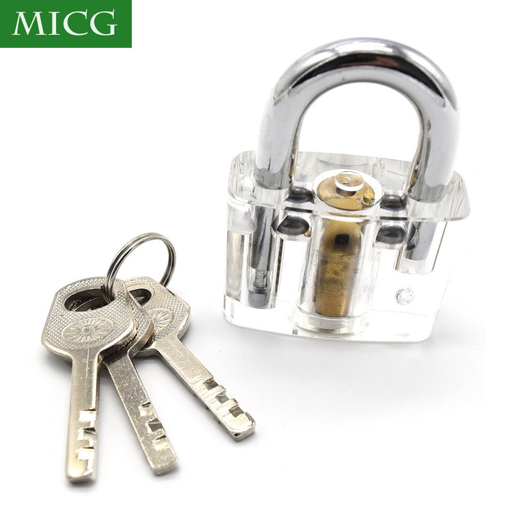 MICG A-bloy Cutaway Lock Transparent Training Skill Professional Visible Practice Padlocks Lock Pick For Locksmith