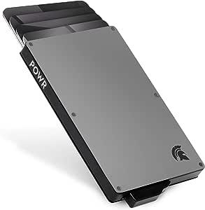 POWR Portatarjetas de Metal, Tarjeta RFID sin Contacto para Hombres