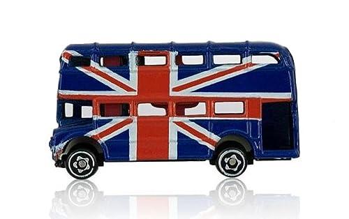 Union Jack London Routemaster Bus Fridge Magnet Die Cast Metal UK GB Flag Souvenir Gift