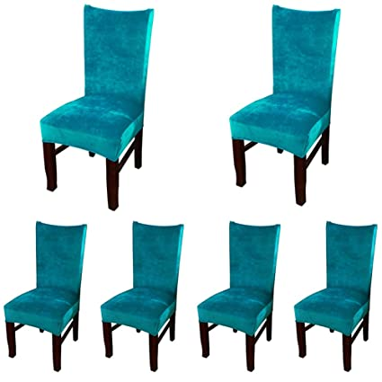 Tremendous Amazon Com Smiry Velvet Stretch Dining Room Chair Covers Gmtry Best Dining Table And Chair Ideas Images Gmtryco
