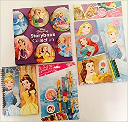 disney princess storybook collection activity set play pack notebook and stationery gift set for easter retail value 1497 hardcover 2016 - Disney Princess Art And Activity Collection