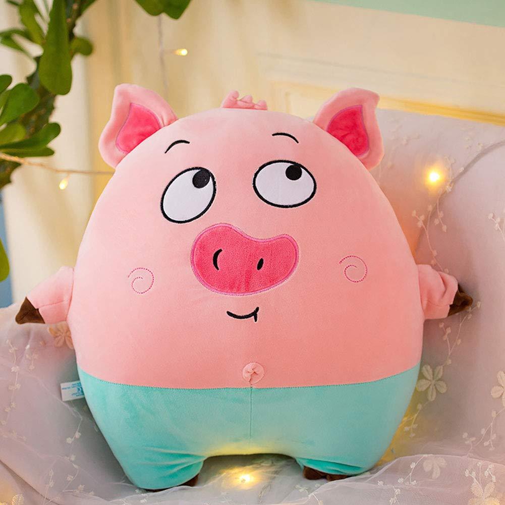 GJC Down Cotton Pig Hug Pillow Plush Toy Cartoon Cute schwarz Cat Doll Sleeping Pillow Gift,RosaA,65CM Rosaa 40CM