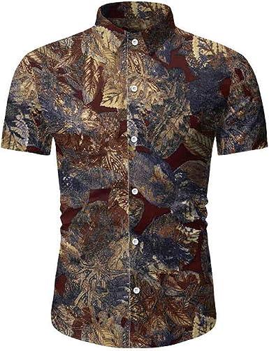 FELZ Camisas Hawaianas Hombre Moda Camisa De Manga Corta Solapa Camisetas Hombre Originales Slim Fit Camisetas Deporte Hombre Camisas De Playa Hombre Verano T-Shirt Hombre Original: Amazon.es: Ropa y accesorios