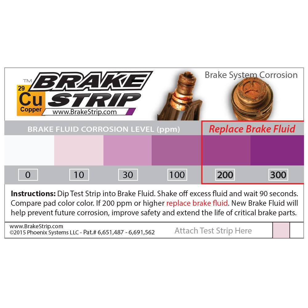 Phoenix Systems 8003-B Double-Ended Test Strip for Coolant + Brake Fluid (100 Test Strips and 100 Rating Scale Cards) by Phoenix Systems (Image #3)